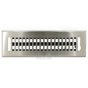 "Hamilton Sinkler - Solid Bronze 2 1/4"" x 10"" Flat Floor Register with Louver in Brushed Nickel"