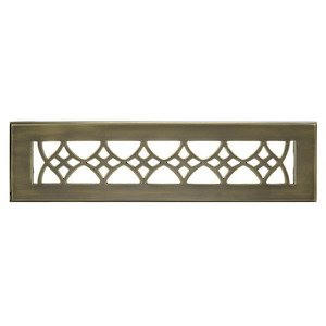 "Hamilton Sinkler - Solid Brass 2 1/4"" x 12"" Strathmore Wall Register with Louver in Antique Brass"