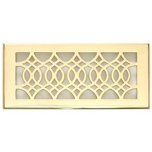 "Hamilton Sinkler - Solid Brass 4"" x 10"" Strathmore Wall Register with Louver in Polish Brass"