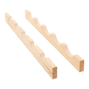 "Hardware Resources - 24"" Wine Bottle Rack in Maple Wood"
