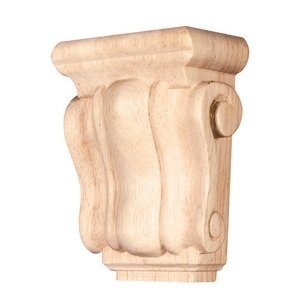 "Hardware Resources - 4 1/4"" Traditional Corbel in Rubberwood Wood"