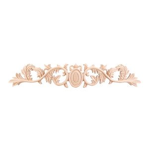"Hardware Resources - 4 3/8"" Acanthus Traditional Onlay in Alder Wood"