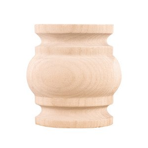 "Hardware Resources - 2 1/2"" Spool Traditional Splice in Oak Wood"