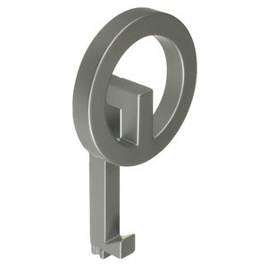 "Richelieu Hardware - Urban Hooks - 6 7/8"" Long Single Square Tube Coat & Hat Hook in Matte Chrome"