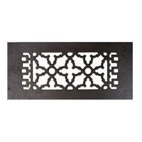 "Acorn MFG - Cast Iron Grilles & Registers - Smooth Iron Register 10"" x 4"" in Black"