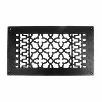 "Acorn MFG - Cast Iron Grilles & Registers - Smooth Iron Register 12"" x 6"" with Holes in Black"