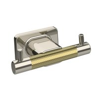 Amerock - Esquire - Double Robe Hook in Polished Nickel And Black Bronze