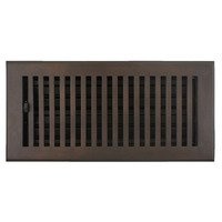 "Hamilton Sinkler - Flat Floor Registers - Solid Bronze 4"" x 10"" Flat Floor Register with Louver in Bronze Patina"