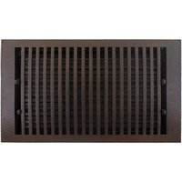 "Hamilton Sinkler - Flat Floor Registers - Solid Bronze 8"" x 14"" Flat Floor Register with Louver in Bronze Patina"