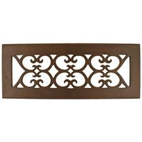"Hamilton Sinkler - Scroll Floor Registers - Solid Bronze 3"" x 10"" Scroll Floor Register with Louver in Bronze Patina"