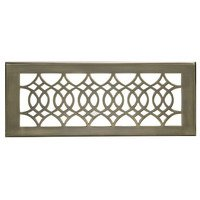 "Hamilton Sinkler - Strathmore Wall Registers - Solid Brass 4"" x 12"" Strathmore Wall Register with Louver in Antique Brass"