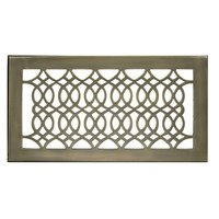 "Hamilton Sinkler - Strathmore Wall Registers - Solid Brass 6"" x 12"" Strathmore Wall Register with Louver in Antique Brass"