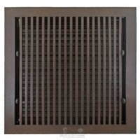 "Hamilton Sinkler - Flat Wall Registers - Solid Bronze 10"" x 10"" Flat Wall Register with Louver in Bronze Patina"