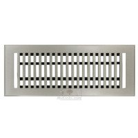 "Hamilton Sinkler - Flat Wall Registers - Solid Bronze 3"" x 10"" Flat Wall Register with Louver in Brushed Nickel"