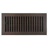 "Hamilton Sinkler - Flat Wall Registers - Solid Bronze 4"" x 10"" Flat Wall Register with Louver in Bronze Patina"