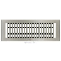 "Hamilton Sinkler - Flat Wall Registers - Solid Bronze 4"" x 14"" Flat Wall Register with Louver in Brushed Nickel"