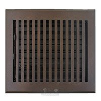 "Hamilton Sinkler - Flat Wall Registers - Solid Bronze 6"" x 6"" Flat Wall Register with Louver in Bronze Patina"