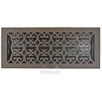 "Hamilton Sinkler - Scroll Wall Registers - Solid Bronze 6"" x 16"" Scroll Wall Register with Louver in Bronze Patina"