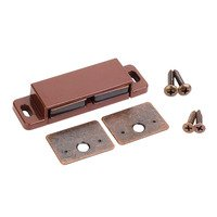 Hardware Resources - Shutter Hardware - Double Magnetic Catch Kit in Brown