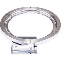 "Hardware Resources - Corner Storage Solutions - 10"" Cast Aluminum Swivel with Stop in Aluminum"