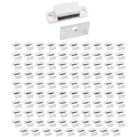 Hardware Resources - Shutter Hardware - (100 PACK) 15 lb Magnetic Catch in White