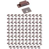 Hardware Resources - Shutter Hardware - (100 PACK) Single Magnetic Catch in Brown