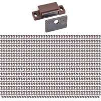 Hardware Resources - Shutter Hardware - (1000 PACK) 15lb. Brown Magnetic Catch Bulk Pack in Brown