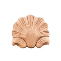 "Hardware Resources - Onlays and Appliqués - 2 7/8"" Shell Traditional Applique in Cherry Wood"