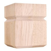 "Hardware Resources - Wooden Legs and Feet - 3 1/2"" x 4 1/2"" Shaker Transitional Bunn Foot in Hard Maple Wood"