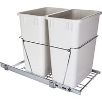 Hardware Resources - 11 Minute Organizers - 35-Quart Double Pullout Waste Container System in Chrome