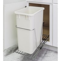 Hardware Resources - 11 Minute Organizers - 35 & 50 Quart Single Pullout Trash Can System in Chrome