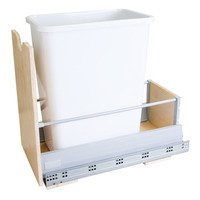 Hardware Resources - Waste Bin Systems - Preassembled 35-Quart Single Pull-Out Waste Container System in White