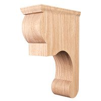 "Hardware Resources - Corbels and Bar Brackets - 3 3/8"" x 11 3/4"" x 8"" Fleur-De-Lis Traditional Corbel with Plain Design in Cherry Wood"