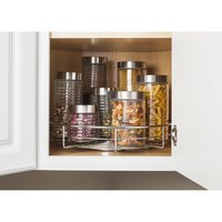 "Hardware Resources - 11 Minute Organizers - Metal Lazy Susan Round 18"" with Swivel in Polished Chrome"