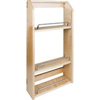 "Hardware Resources - Wall Cabinet Organizers - Adjustable Spice Rack for 18"" Wall Cabinet"