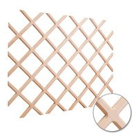 "Hardware Resources - Wine Accessories - Wine Lattice Rack with Bevel 25"" x 45"" in Oak Wood"