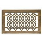 "Hamilton Sinkler - Solid Brass 6"" x 10"" Strathmore Floor Register with Louver in Antique Brass"