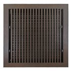 "Hamilton Sinkler - Solid Bronze 12"" x 12"" Flat Wall Register with Louver in Bronze Patina"