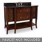 "Jeffrey Alexander by Hardware Resources - Philadelphia Classic - 48 1/2"" Bathroom Vanity in Chocolate with Black Granite Top and Bowl"